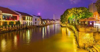 A beautiful canal in Kuala lumpur in Malaysia