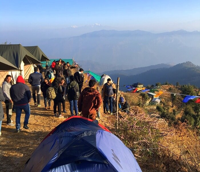 Campers at Living Kanatal