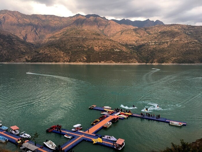 Water sports in Tehri lake