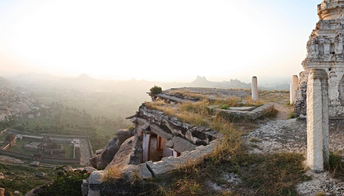 A shot of the ruins of Hampi as seen from Matanga Hill