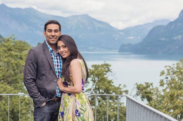 Honeymoon couple in Interlaken