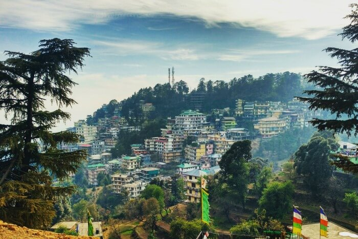 picturesque view of mcleodganj