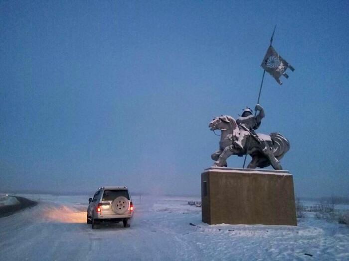 Nidhi on her road trip in Siberia