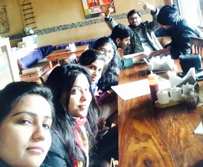 priyanka and friends having lunch