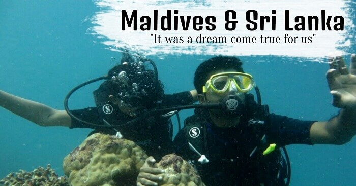 Ranjeet enjoying Scuba diving during his honeymoon trip to Sri Lanka