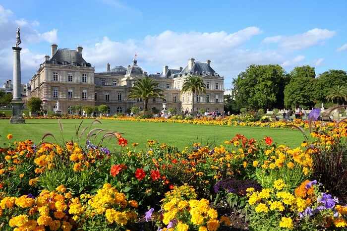 The famous Luxembourg Palace and park that are among the popular Paris attractions