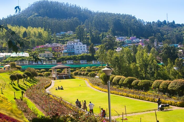 City scape on Nilgiri mountains at Ooty
