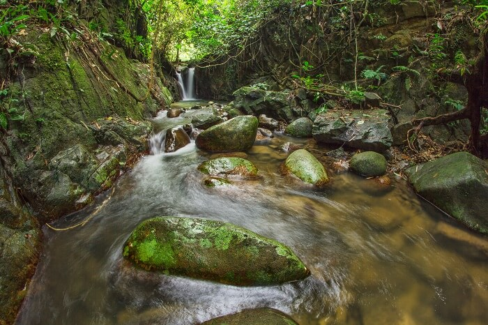 Lata Tampit Waterfall at Janda Baik in Pahang district of Malaysia