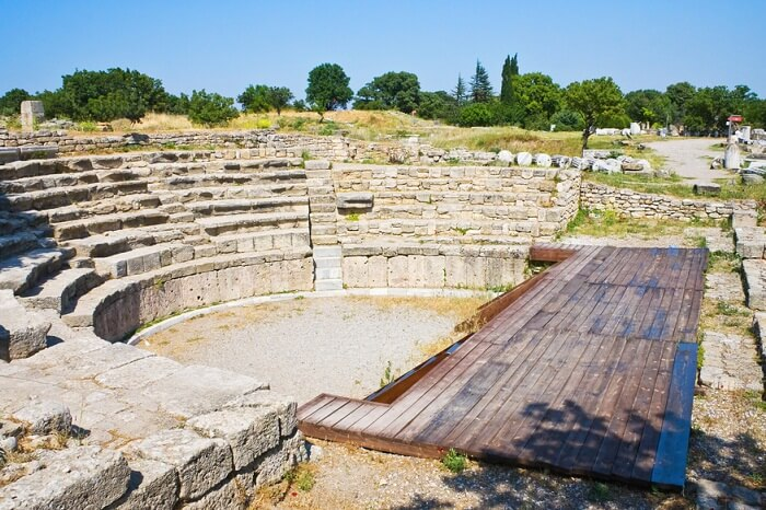 An amphitheater in the lost city of Troy