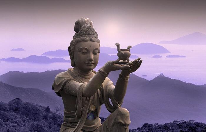 Buddhist statue in Hong Kong