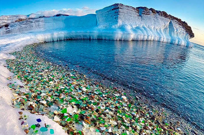 Glass Beach in Russia