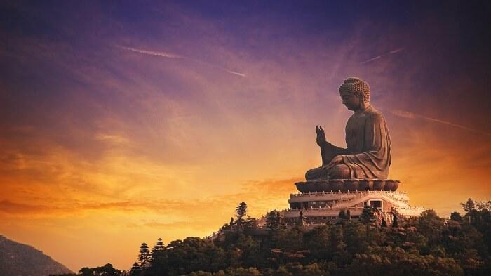 The Big Buddha Statue in Hong Kong