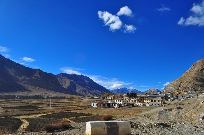 Kaza on a bright day Spiti