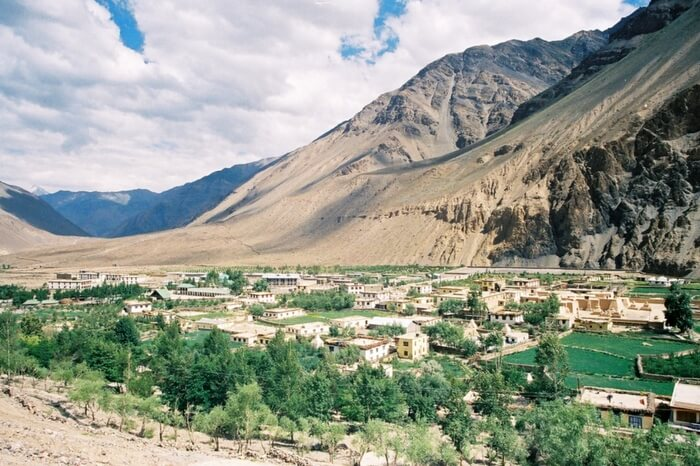 A view of Tabo village in Spiti
