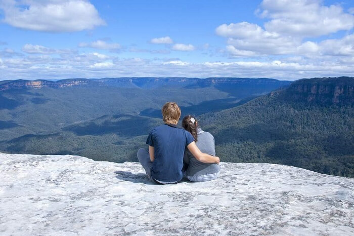Romantic couple at the Blue Mountains, Sydney