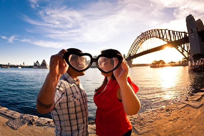 honeymoon couple in Sydney