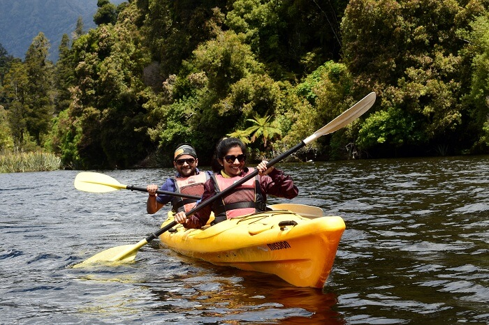 Kayaking activity in new zealand