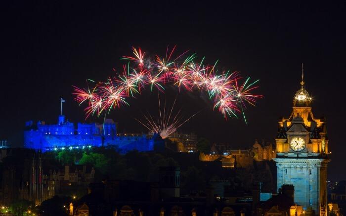 Fireworks during Edinburgh International Festival