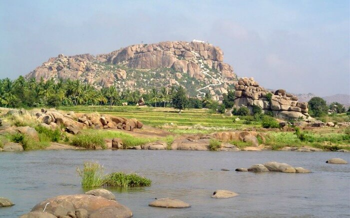 View of Hanuman Temple in Hampi