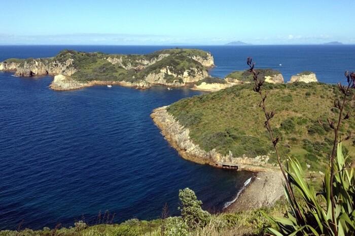 Hauraki Gulf Marine Park Islands as viewed from lighthouse