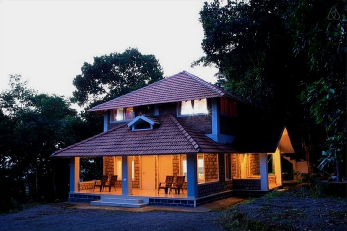 A well lit homestay in Munnar in Kerala