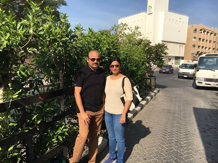 Couple visiting Dubai hotel