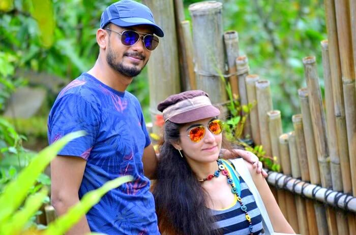 Sanchit and wife doing sightseeing in Ubud