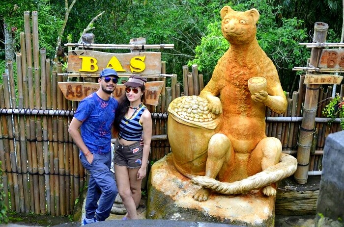 Sanchit and his wife clicked in Ubud