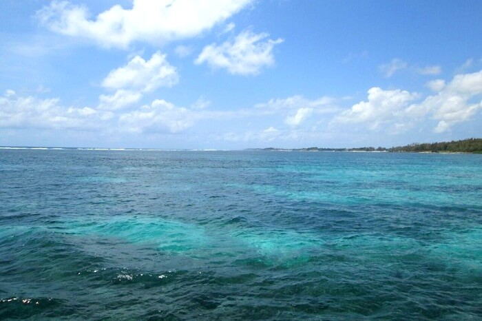 scenic views on the way to ile aux cerfs