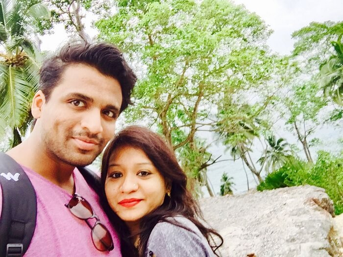 Mayank and his wife doing sightseeing in andaman