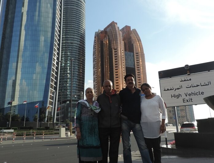 Travelers in Dubai city