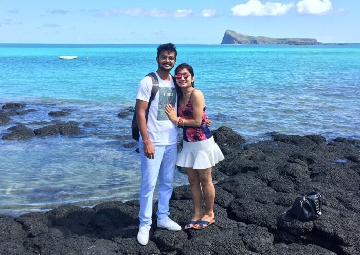 Malay and his wife doing Sightseeing in Port Louis
