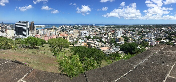 Panoramic view of Port Louis