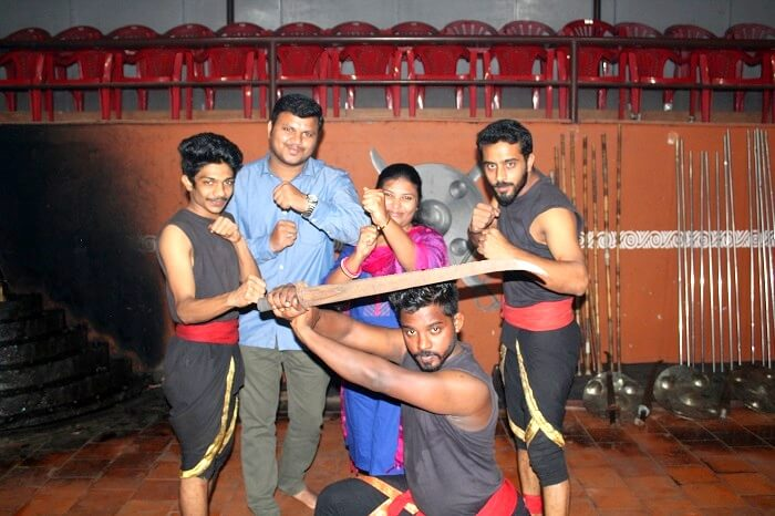 ancient martial arts show in thekkady
