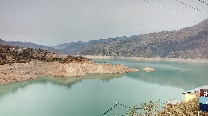 view of the tehri lake