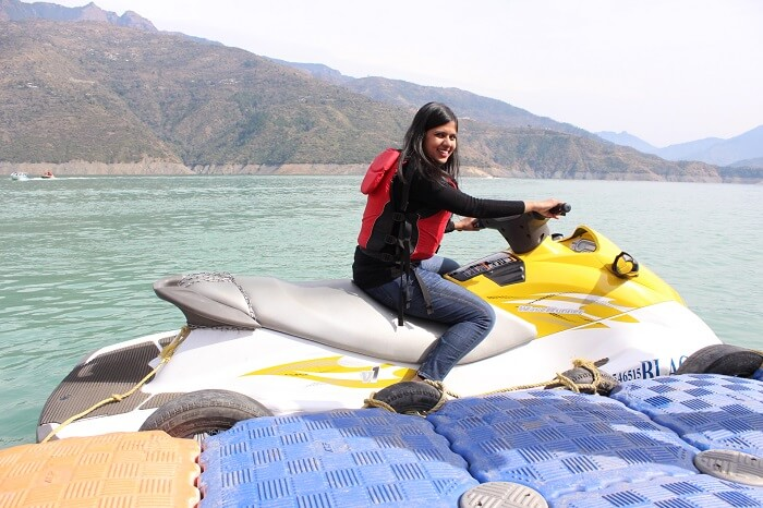 jet skiing in kanatal