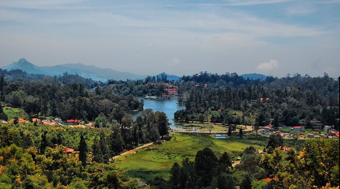 valley and mountains in Kodaikanal