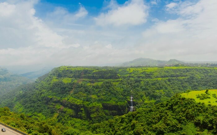 Bird eye view of Kune- which is among best honeymoon places near Pune