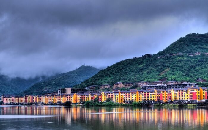 View of Lavasa in evening