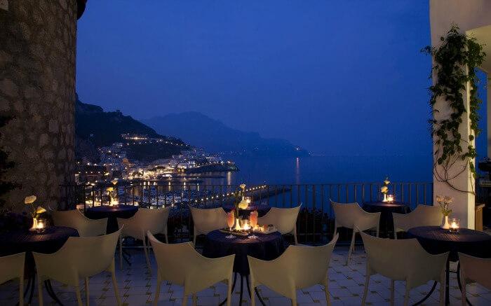 Dining area in Miramalfi