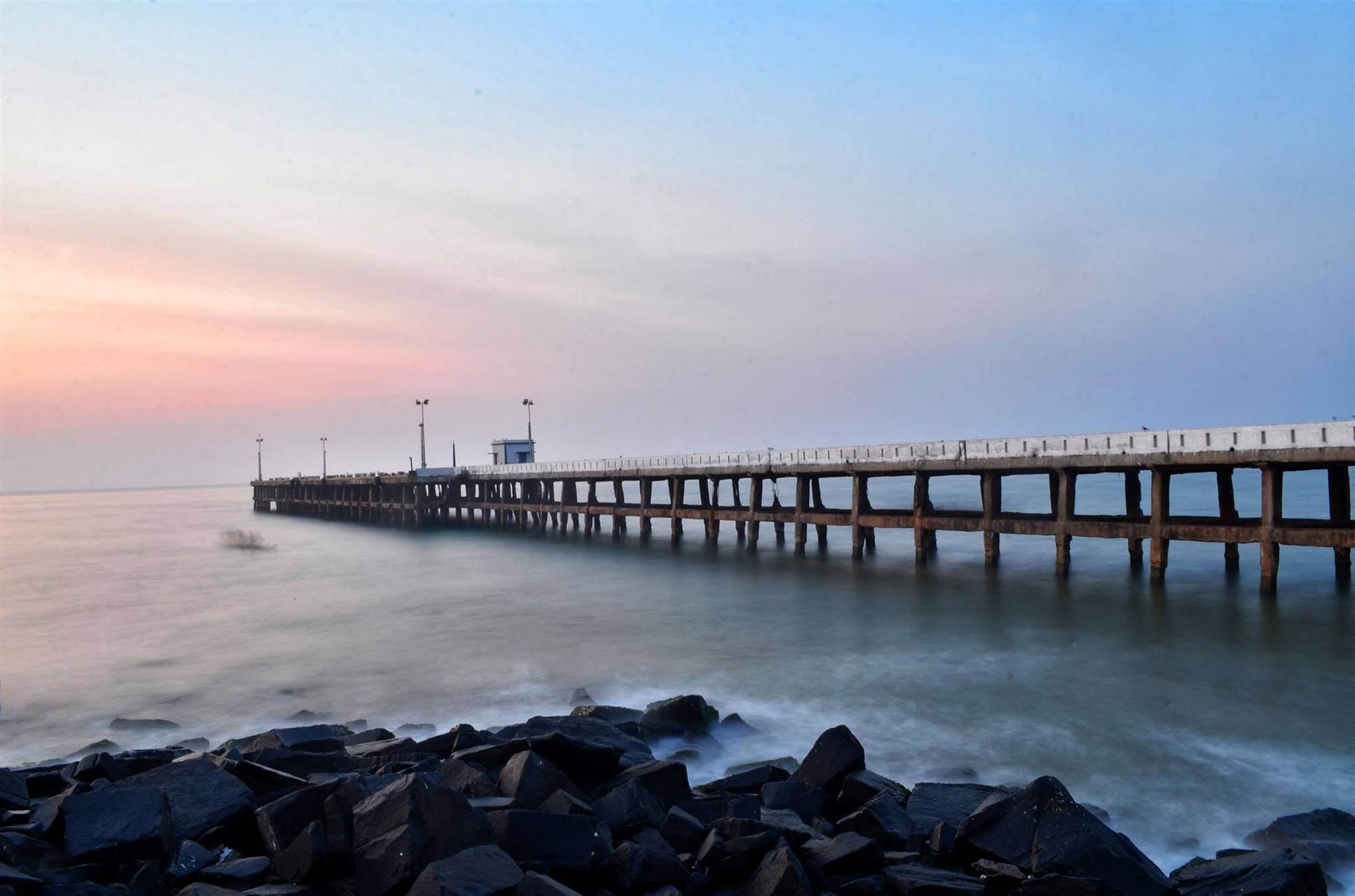 Pondicherry beach harbor subset