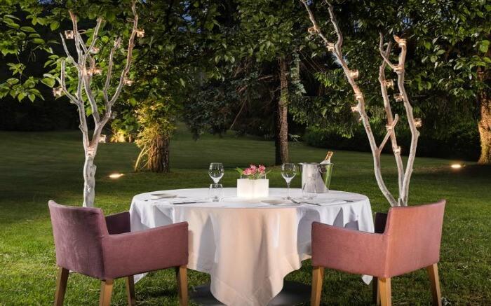 Romantic dining in Sheraton Lake Como Hotel