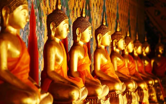 Buddha statues in Sri Lanka