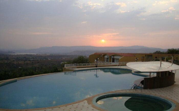 Sunset from Wildernest Resort in Khadakwasla