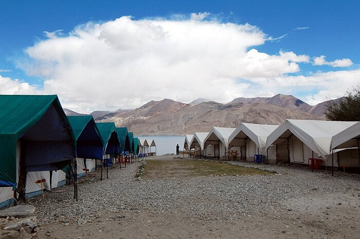 A tourist camp near Pangong lake