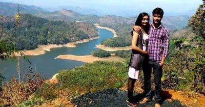 Arpan on a honeymoon trip to Kerala