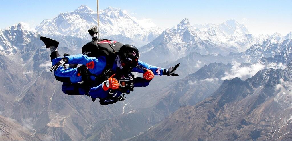 skydiving in nepal