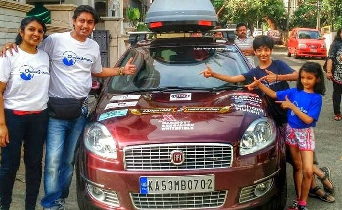 Anand and his family on a road trip to Paris