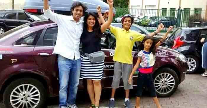 A family road trip from Bangalore to Paris