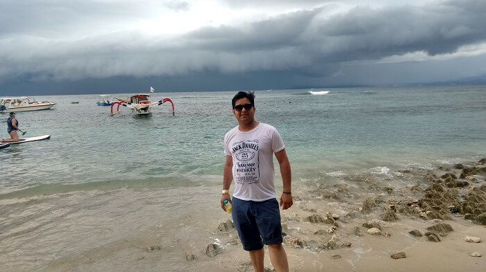 cloudy weather on Lembongan Island